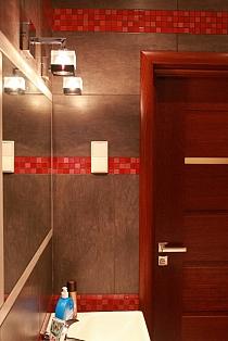 Mozaika Szklana  Czerwona mix KM103