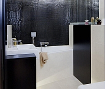 Glass Mosaic Black K01 - High gloss
